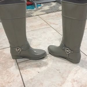 Michael Kors gray rainboots
